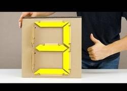 Enlace a Como hacer un display de 7 segmentos en cartón