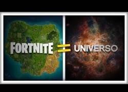 Enlace a Si el Universo fuera del Tamaño del FORTNITE
