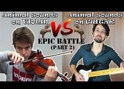 Enlace a Imitando sonidos de animales: guitarra vs violin