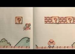 Enlace a Paper Mario Bros en una libreta de papel literalmente