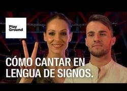 Enlace a Cantar en lengua de signos