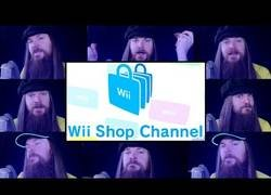 Enlace a Interpretando la sintonía de la Wii Shop a capella