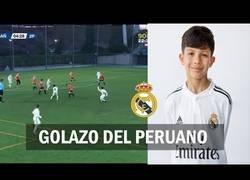 Enlace a Sergio Torres, la perla peruana del Real Madrid con tan solo 10 años ha marcado este auténtico golazo