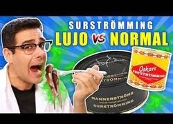 Enlace a Probando SURSTRÖMMING DE LUJO VS NORMAL | RETO Comida que peor huele del mundo