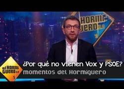 Enlace a Pablo Motos dice por qué VOX y PSOE no acuden a El Hormiguero
