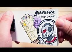 Enlace a El final de Los Vengadores: Endgame contado con un flipbook