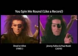 Enlace a Jimmy Fallon y Paul Rudd recrean el vídeo de la canción