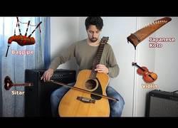 Enlace a Este tipo ha tardado tres meses en imitar el sonido de otros instrumentos con la guitarra