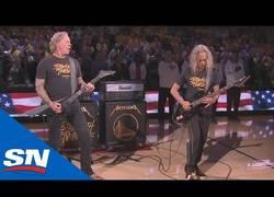 Enlace a Metallica toca el himno americano en las finales de la NBA
