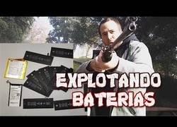 Enlace a Disparando a baterías de diferentes smartphones