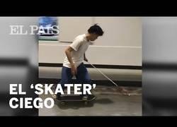 Enlace a Ryusei Ouchi, el 'skater' ciego