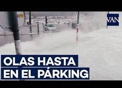 Enlace a Las calles de Llança (Girona) se inundan de espuma marina