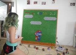 Enlace a Jugando al Super Mario con cubos de rubik