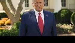 """Enlace a Trump anunciando que todos los estadounidenses recibirán el mismo tratamiento """"milagroso"""" que ha recibido él, un cocktail de fármacos conocido como REGENERON"""