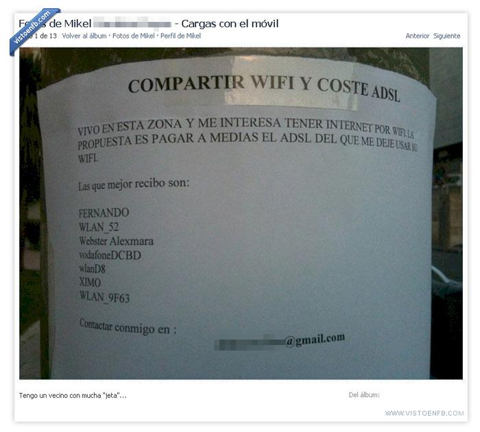 compartir,gorrón,vecino,wifi