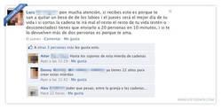 Enlace a Facebook y las cadenas