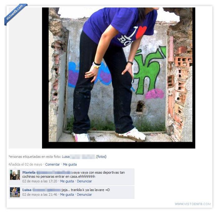 facebook,hija,limpieza,madre,zapatillas