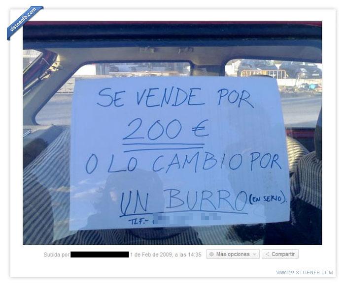 burro,cambio,coche,trueque