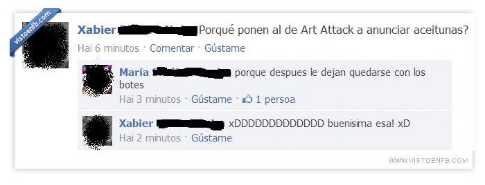 aceitunas,art attack
