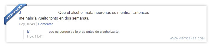 alcohol,mentira,neuronas,tonto