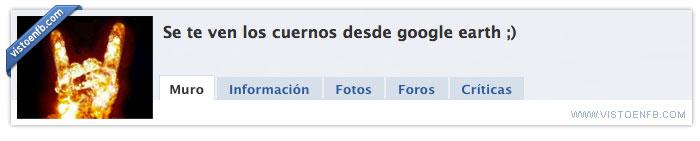 cuernos,google earth