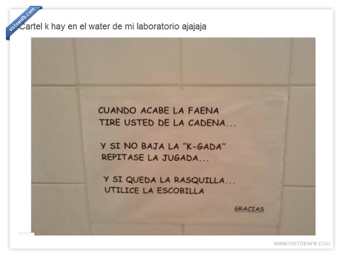 carteles,laboratorio,wc