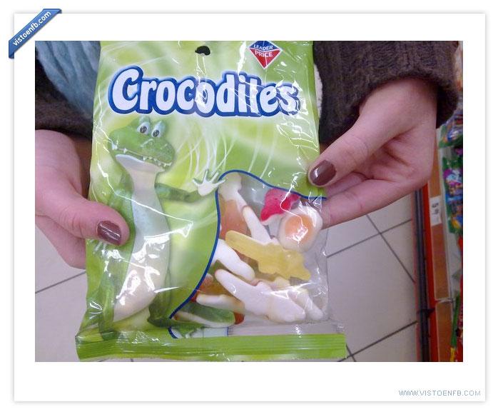 bolsa,cocodrilos,gominolas,huevo,intruso