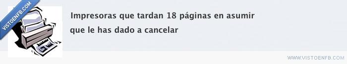 cancelar,impresoras