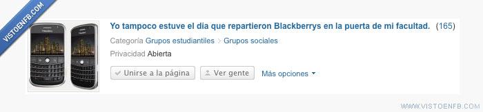 Blackberrys,Facultad,Página
