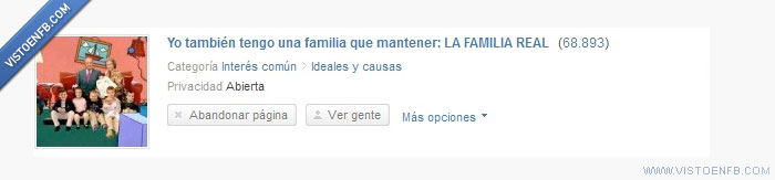 familia real,mantener