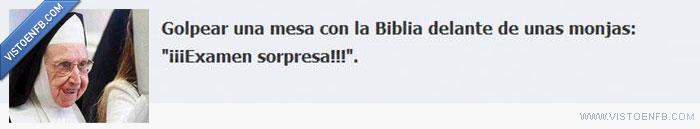 biblia,examen,monjas