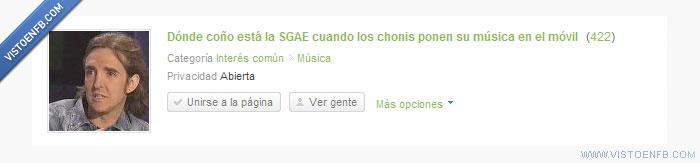 chonis,movil,musica,SGAE
