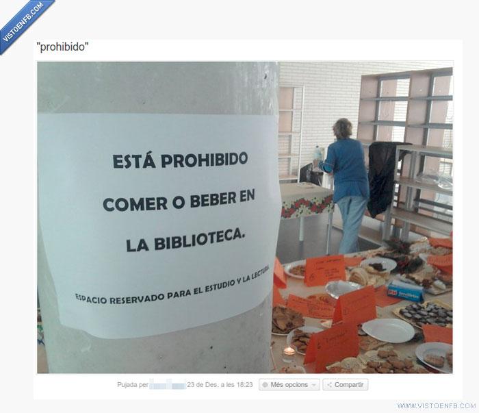 biblioteca,comer,eoi,prohibido