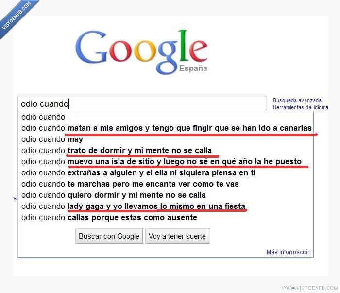 google,locuras,odiar,tonterias