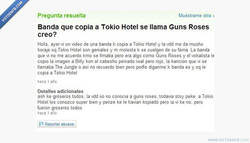 Enlace a Guns N' Roses copia a Tokio Hotel