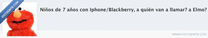 blackberry,celos,elmo,estado,iphone,niños