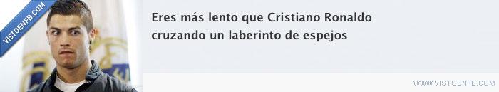 Cristiano Ronaldo,espejos,laberinto,lento
