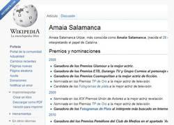 Enlace a Premios de Amaia Salamanca según Wikipedia