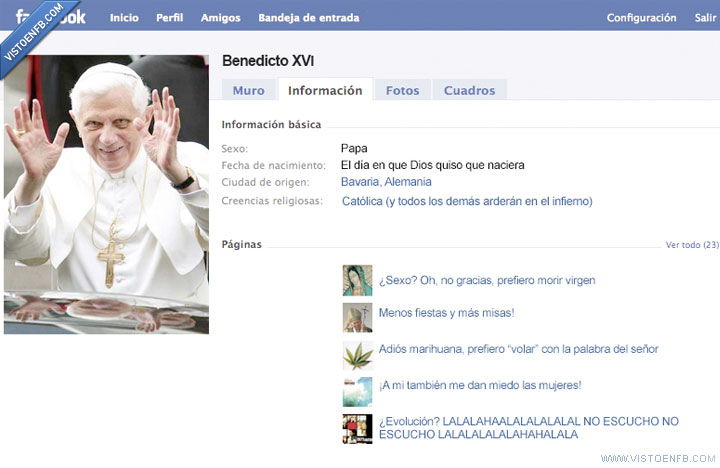 benedicto,faceboook
