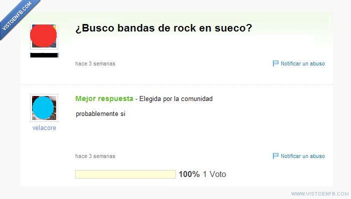banda,musica,rock,Yahoo respuestas