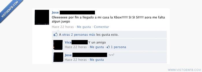 amigo,consola,solo,videojuegos,xbox
