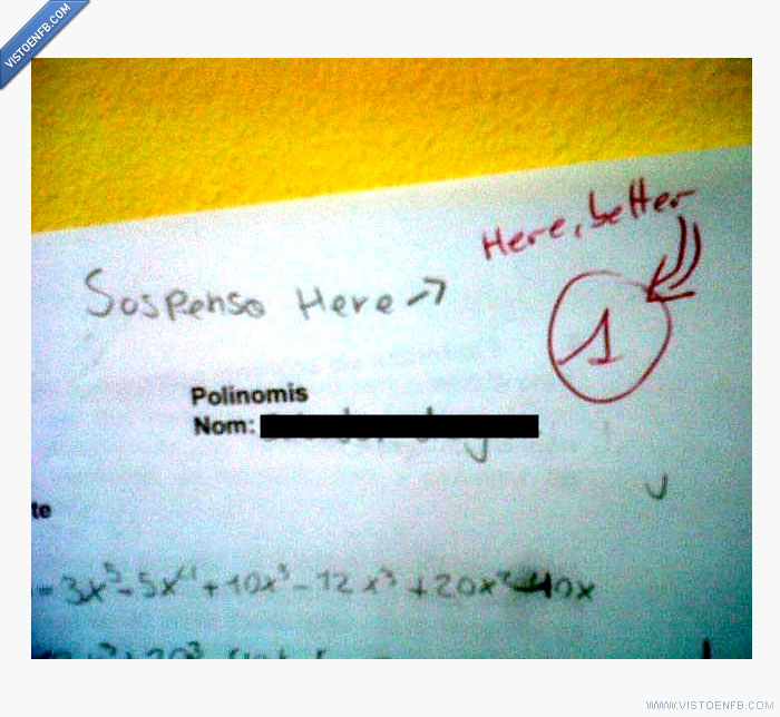 examen,matemáticas,suspenso,vacilada