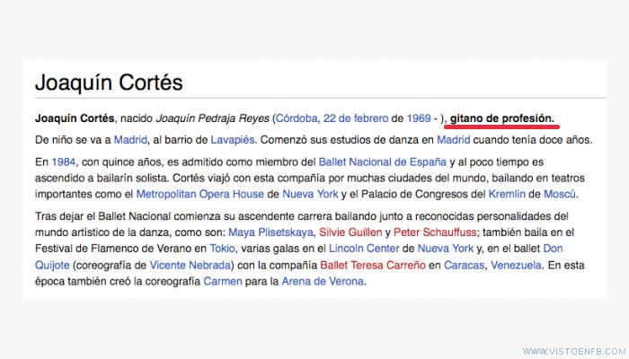 joaquin cortes,profesion,wikipedia