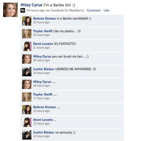 barbie girl,cantantes,Justin Bieber,Niñatas