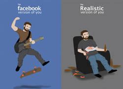 Enlace a Tu perfil en fb vs. tu perfil en la realidad (vía comicalconcept.com)