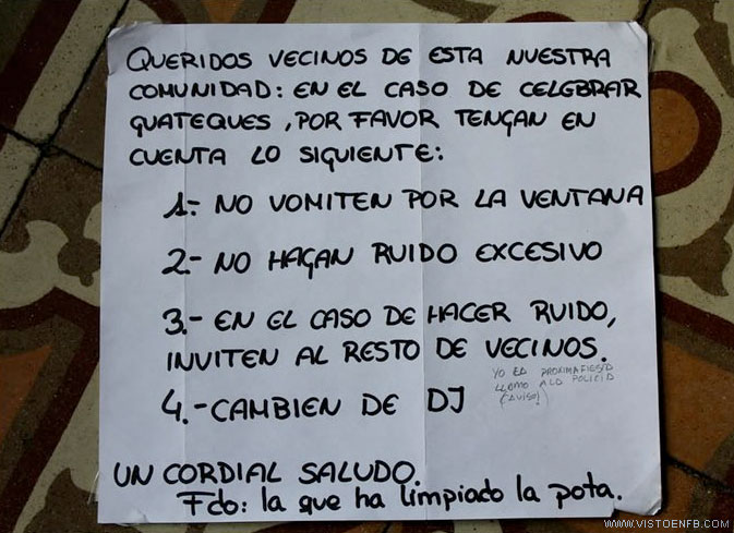 cartel,dj,fiesta,guateque,vecinos