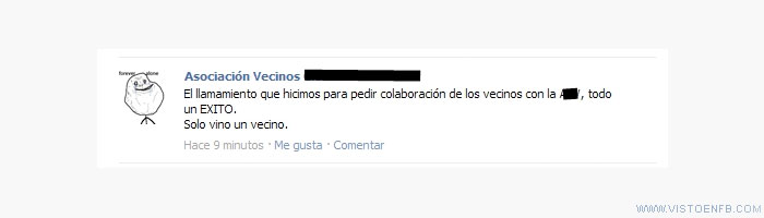 forever alone,Vecinos