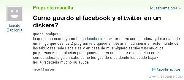 facebook,twitter,yahoo respuestas