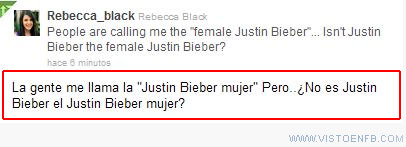 Justin Bieber,mujer,Odio,Rebecca Black,travesti