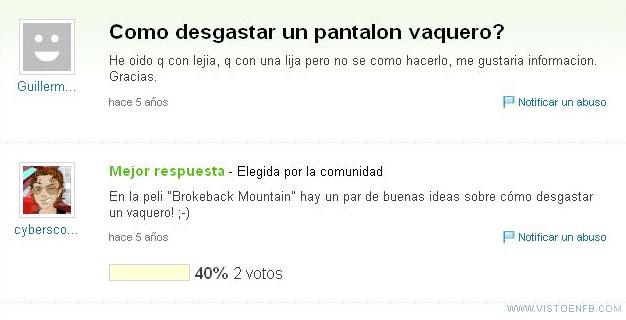brokeback mountain,película,tejanos,vaqueros,yahoo respuestas